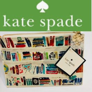 NWT KATE SPADE NEW YORK  like a book pencil pouch